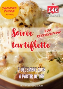 Soirée tartiflette @ Yann'os Pizza   Matour   Bourgogne Franche-Comté   France