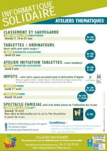 "Atelier ""Tablettes/ordinateurs"" @ Maison des Associations Matour"