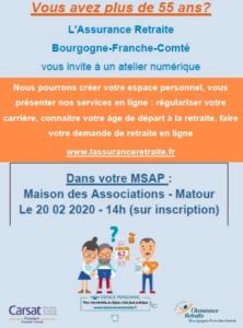 Atelier numérique CARSAT @ Maison des Associations Matour