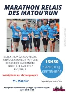 ANNULÉ - MarathonRelais Matou'Run @ Parc Maison des Patrimoines